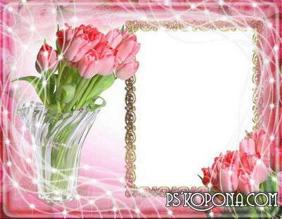 Frame womens -  Vase with delicate flowers