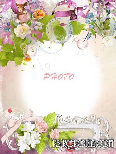 Children Photo Frame - Spring aroma of flowers
