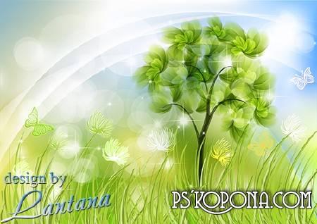 PSD source - Hello, first spring grass