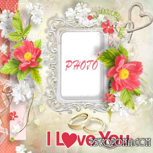 Wedding photoframe - Love for Life
