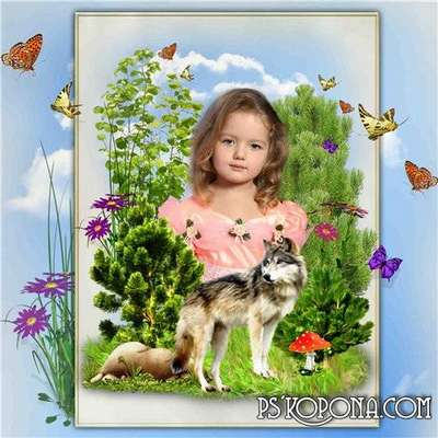 Collage frame for Photoshop free download - Nature Idyll