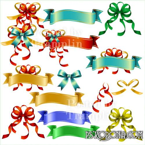 Clipart psd bows and ribbons for the text free download