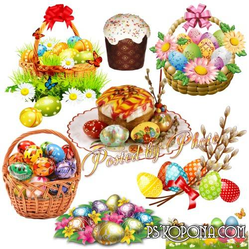 Free psd Clipart on a transparent background - Happy Easter download