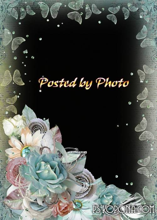 Photo frame - Vintage roses