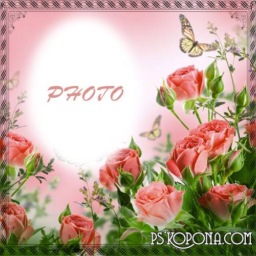 Photo frame - Spring roses for you