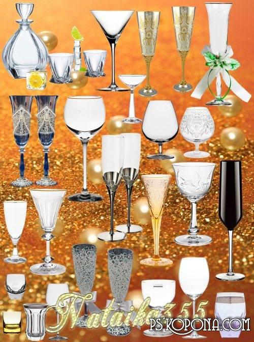 Graphics - Fragile glass goblets