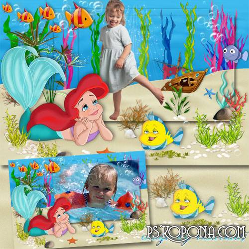 Children's Frame for Photoshop - Baby Ariel