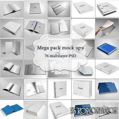 MEGA COLLECTION PSD BOOK MOCK UPS
