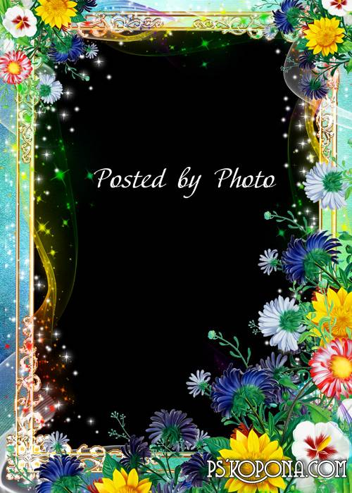 Flower photo frame - Wildflowers