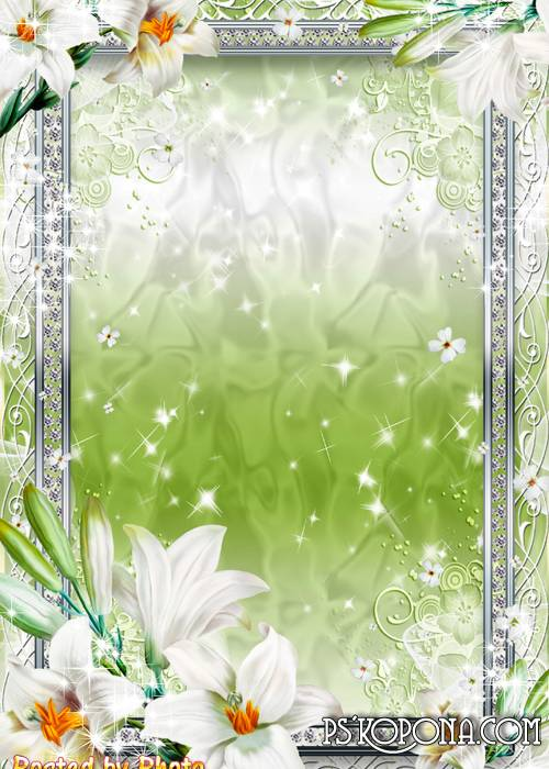 Photo frame - Flower of my white, precious