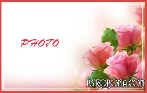 Женская фоторамка - Нежность Розы