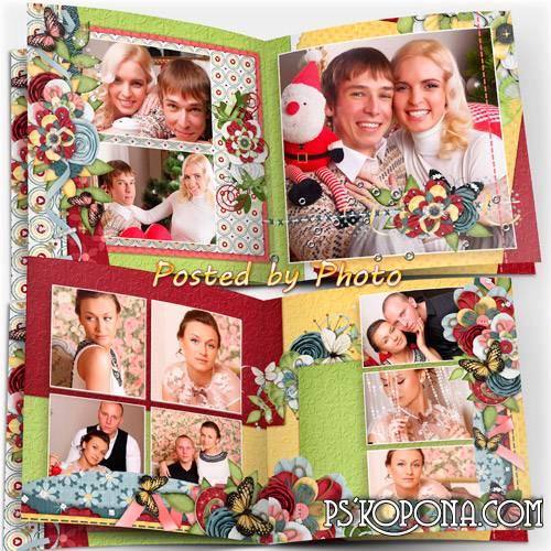 Generic photo book template psd - Family album