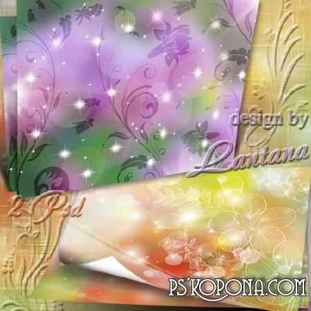 Multilayer backgrounds for summer collage