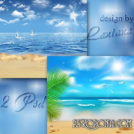 Multilayer backgrounds - Summer, sea, beach