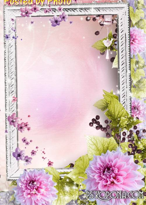 Floral frame - Love and tenderness
