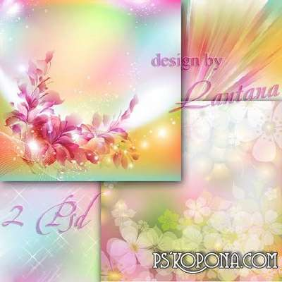 Multilayer backgrounds - Summer day in the decoration of the flower