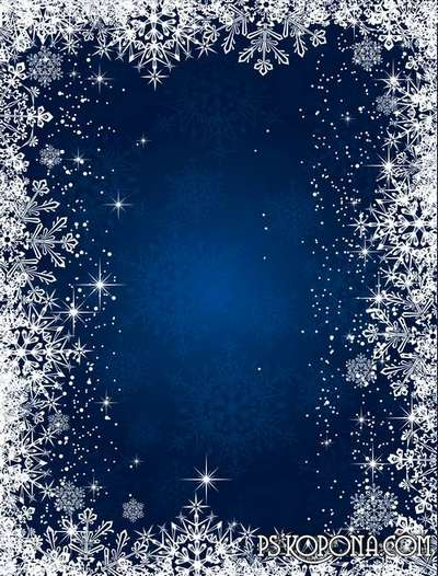Multilayer backgrounds for Photoshop - Winter Fantasy