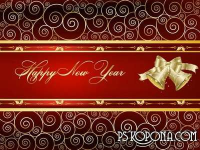 PSD source - Good New Year holiday 16