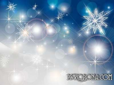 PSD source - Silver snowflakes - Christmas snowfall