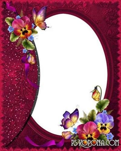 Flower frame - Shine violets