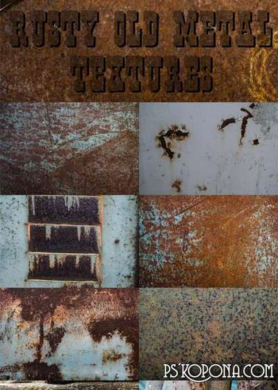 Rusty old metal textures ( free textures, free download )