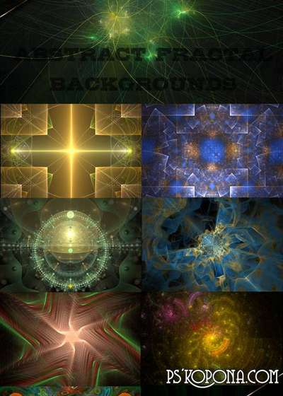 Abstract fractal backgrounds