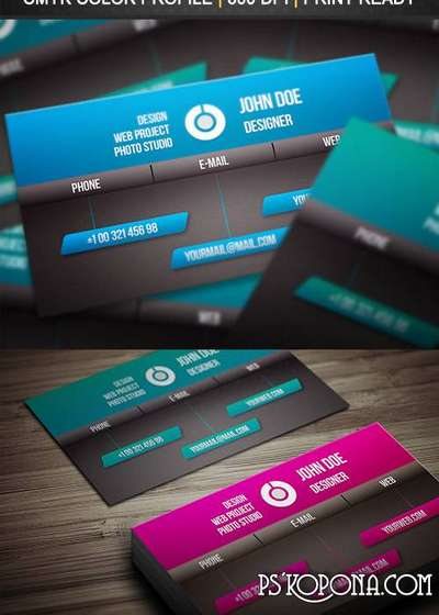 PSD - Creative Business Card Template 002
