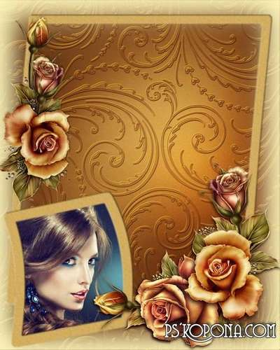 Women's frame - Delicate roses
