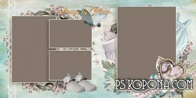 Baby book template psd - Vintage