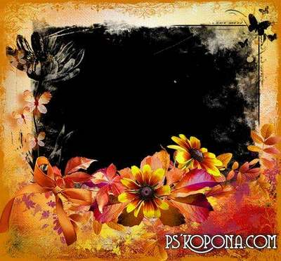 Autumn - romantic frame for photo