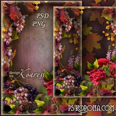 Photo frame for Photoshop - Still life in autumn colors