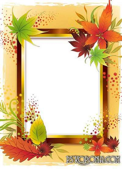 Frame for photo - Romantic autumn of VARENICH