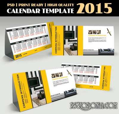 PSD - Business Calendar Template 2015 - 4