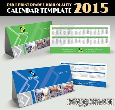 PSD - Business Calendar Template 2015 - 5