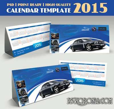 PSD - Business Calendar Template 2015 - 6