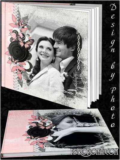 Romantic photobook template psd - Together forever