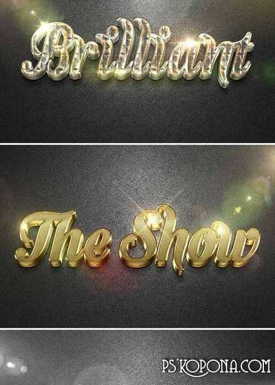3D Collection Text Effects Photoshop style GO.2