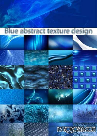 Blue abstract texture design