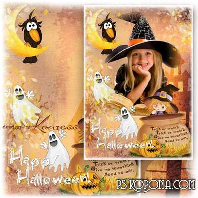 Photo frame for Halloween - Trick or treat, trick of treat