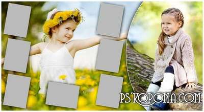 Universal photo book template psd for Photoshop