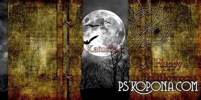 Template photobook psd - Happy Halloween