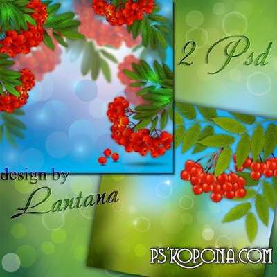 Multilayer backgrounds - Rowan scarlet