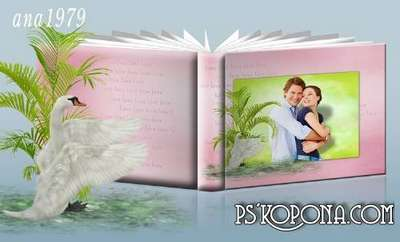 Photobook template psd - Thee I am ready to wait for eternity