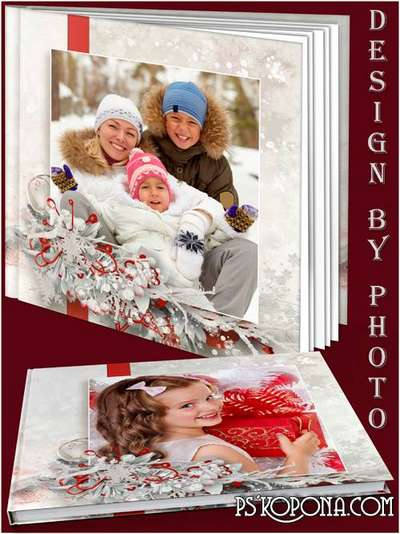 Family photo book template psd free - Beautiful winter