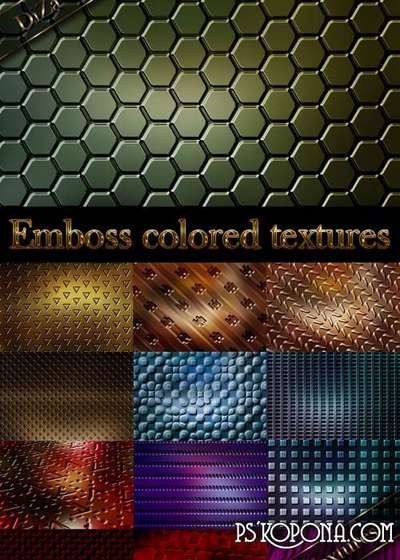 Emboss colored textures