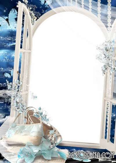 PSD and PNG Photo frame for girls - Celestial problem