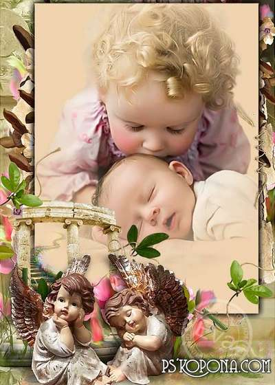 Childs free photo frame - Sleeping angel
