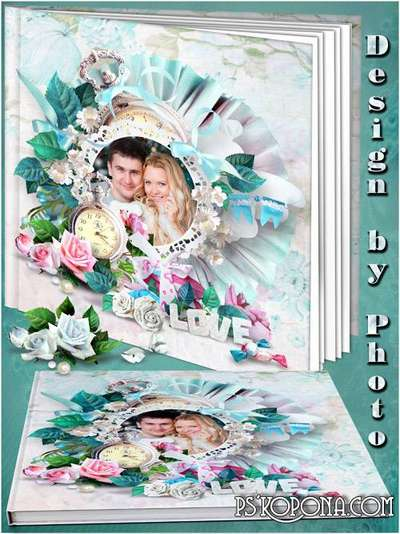 Romantic photobook template psd - Love lives in our hearts
