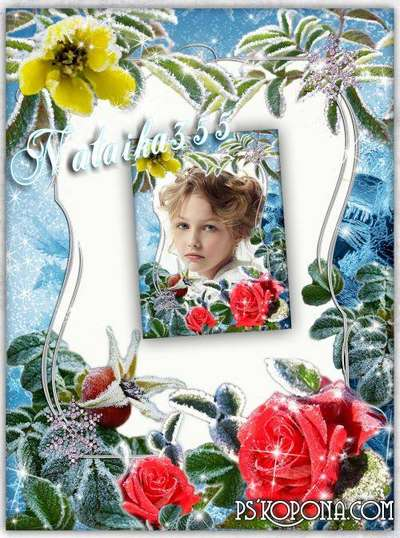 Photo Frame - With crystal leaves