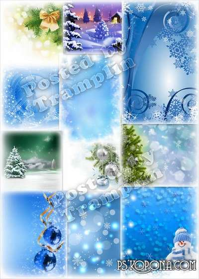 New Year backgrounds - Snowflakes fell from heavens